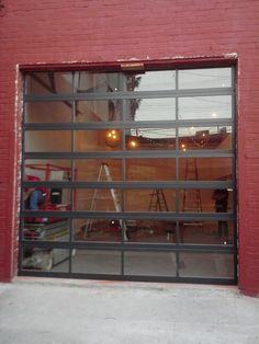Glass Garage Door : Full View Aluminum U0026 Clear   Etogaragedoors.com