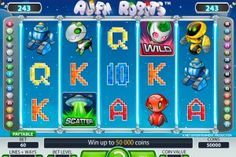Aliens, slot, machine, play