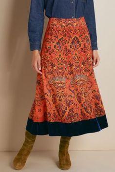 Baroque Border Skirt - Womens Tapestry Skirt | Soft Surroundings