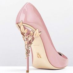 Jeweled Pink Spike Heels