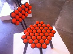 Jason Wech, professor of furniture design at #SCAD, Ball Chair, 2006  http://www.scad.edu/exhibitions/view/2012/furniture-selections.cfm