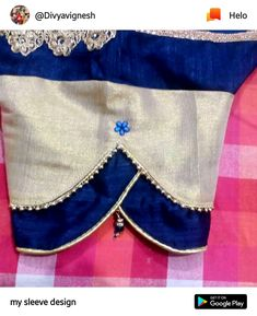 Blouse Designs High Neck, Simple Blouse Designs, Stylish Blouse Design, Fancy Blouse Designs, Sleeves Designs For Dresses, Sleeve Designs, Blouse Desings, Silk Sarees With Price, Kurta Neck Design