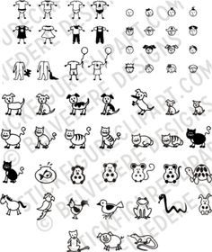 Vector Stick Figure Clipart - AI Download + CD copy