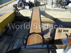 Teak Decking on Mega Yachts www.wsyachtteakcarpentry.com