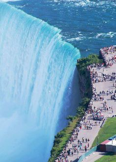 ON – Horseshoe Falls, city of Niagara Falls, Niagara region, Ontario, Canada. Niagara Falls as seen from Skylon Tower at 5200 Robinson St. in the city of Niagara Falls. What A Wonderful World, Wonderful Places, Beautiful Places, Amazing Places, It's Amazing, Amazing Photos, Amazing Things, Amazing Nature, Beautiful Pictures