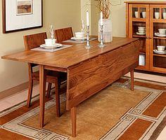 Farmers Drop Leaf Table 6ft Long, 30