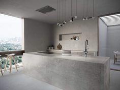 Cosentino Dekton in & # Soke & # - Evan - Innenarchitektur badezimmer Industrial Style Kitchen, Modern Kitchen Design, Urban Industrial, Bedroom Furniture Redo, Beton Design, Concrete Kitchen, Cuisines Design, Kitchen Styling, Cladding