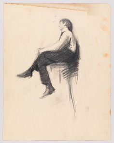 Whitney Museum of American Art: Edward Hopper: (Study of a Seated Man in… Edward Hopper, Life Drawing, Figure Drawing, American Realism, American Artists, Hooper Edward, Frank Dicksee, Ashcan School, Jack Vettriano