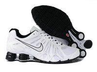 buy popular 212d1 aaca6 chaussures nike shox turbo+gris homme (blanc noir) pas cher en ligne.