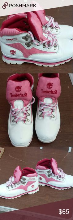 Timberland Euro Hiker Leather Boots Small scuff mark on the front of each shoe. Noted in the 2nd pic. Timberland Shoes