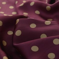 Spotty-Muldoon---Burgundy-Gold-Spot---Satin-Dress-Fabric---cu