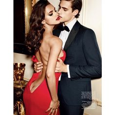Jordan & Zac Stenmark are in a Flirty Mood for Allure Russia's... ❤ liked on Polyvore