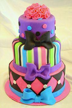 Elegant Image of Fun Birthday Cakes Fun Birthday Cakes Fun Birthday Cake Cakes And Cupcakes For Kids Birthday Party Dot Cakes, Fondant Cakes, Cupcake Cakes, 16 Cake, Teen Cakes, Girl Cakes, Funny Birthday Cakes, Think Food, Colorful Cakes