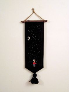 Snow Wall Banner by maudstitch on Etsy