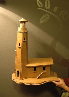 Cardboard Lighthouse. http://unsoloboton.wordpress.com/