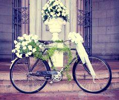 Bicicleta flores brancas  www.suka.com.br