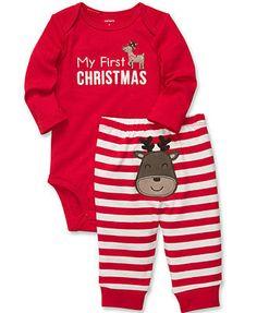 Carter's Baby Set, Baby Boys or Baby Girls Turn Me Around Reindeer 2-Piece Bodysuit and Pants