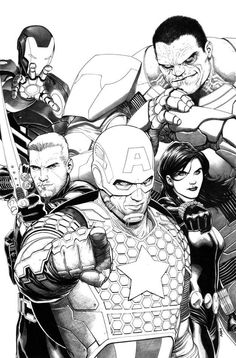 COMICS: First Look At Steve McNiven's AVENGERS #1 Sketch Variant Cover