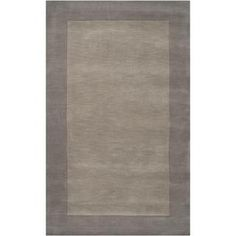 Hand-crafted Grey Tone-On-Tone Bordered Wool Rug (7'6 x 9'6) | Overstock.com Shopping - Great Deals on 7x9 - 10x14 Rugs