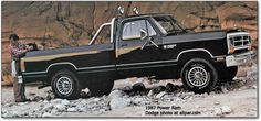 1987 Dodge Ram 4x4 Pickup. I ALMOST bought one of these just like this in a short bed.