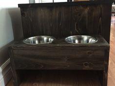 Raised Dog Bowl Feeder With Food Storage