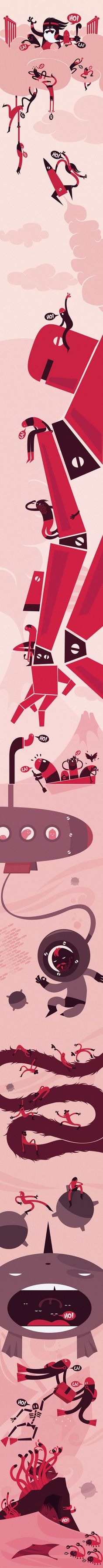 G-world adventure by Goktug Ozge, via Behance