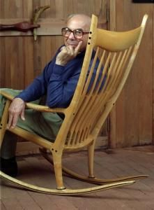 Sam Maloof's home in Upland, you can sit in this chair, it is so comfortable, your body just melts into it. He was an amazing artist.