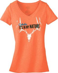 Show that Cabela's is In Your Nature with this bright orange tee.