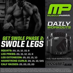 #MP Workout of the Day! Get Swole Phase 2 Legs by @MusclePharmPres! Tag someone who needs a great weekend leg workout! #Musclepharm