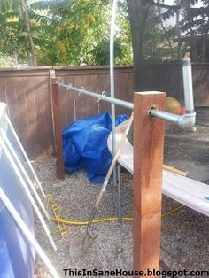 Pool Cover Storage Ideas from affordable above ground pools to inflatable toys and storage solutions this array of This Insane House Diy Solar Cover Reel For An Above Ground Pool