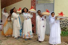 Different styles of Ethiopian dress