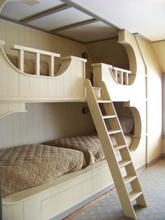 Bedroom Photos Design, Pictures, Remodel, Decor and Ideas - page 15 Great idea - bunk beds end to end.
