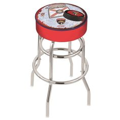 Florida Panthers NHL D2 Retro Chrome Bar Stool. Available in 25-inch and 30-inch seat heights. Visit SportsFansPlus.com for details.
