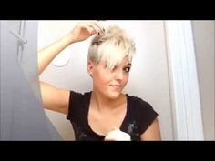 This just changed the pixie game! This is seriously one of the best vids to show the different ways to style a short pixie cut. I'm so glad I watched it. It gives me the confidence to try a differnt style for my pixie Pixie Hairstyles, Cool Hairstyles, Pixie Haircuts, Short Hair Cuts, Short Hair Styles, Pixie Styles, Style Short Hair Pixie, Corte Y Color, My Hairstyle
