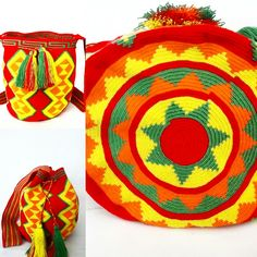 Wayuu bag traditional geometric.