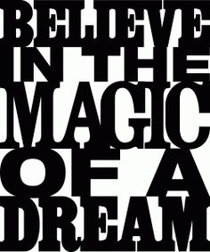 Silhouette Online Store - View Design #61417: 'believe in the magic of a dream' phrase
