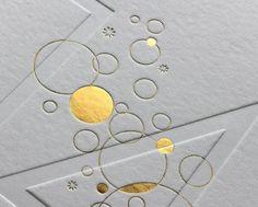 Print : Badcass - Design : Boris Uzan - Carte de voeux en letterpress - #débossagepur #dorure