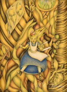 ALICE IN WONDERLAND - DOWN THE RABBIT HOLE BY M C IGLESIAS