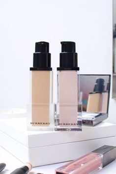 Autumn Winter Burberry Beauty: The Burberry fresh glow cashmere foundation for a matte and medium coverage.