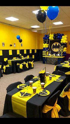 Batman Birthday Party Unique Batman Party Birthday Party Ideas In 2019 Lego Batman Party, Lego Batman Birthday, Superhero Birthday Party, 4th Birthday Parties, Boy Birthday, Birthday Pins, Birthday Ideas, Batman Party Decorations, Table Decorations