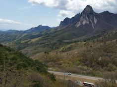 #Ulsanbawi Rock as seen from the #Misiryeong Ridge | Goseong, Gangwon Province, Korea | 미시령 울산바위