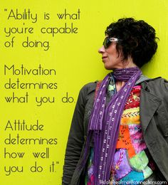 Keep that attitude positive!  #addiction #recovery #ability #motivation #attitude