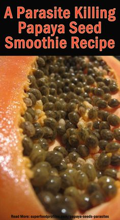 How to Use Papaya Seeds for Parasites ~ Intestinal parasites are a far more common problem than most people realize. They are also notoriously difficult to diagnose due to the wide variety of symptoms that can result from a parasitic infection. Natural Health Remedies, Natural Cures, Natural Healing, Healthy Smoothies, Smoothie Recipes, Juicer Recipes, Cleanse Recipes, Papaya Benefits, Gastronomia