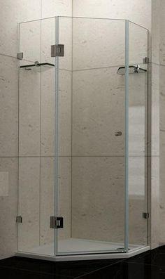 Frameless 1100mm Angled Corner Shower Screen 10yr W In 2020 Corner Shower Shower Screen Glass Door Hinges
