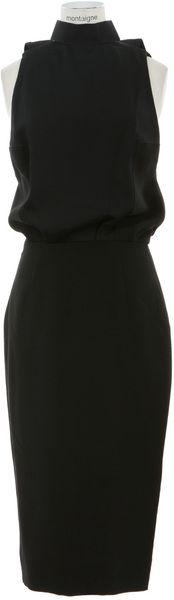 Bimaterial Fitted Dress - Victoria Beckham