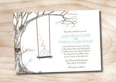 VINTAGE TREE Swing Lovebirds Wedding by PaperHeartCompany on Etsy