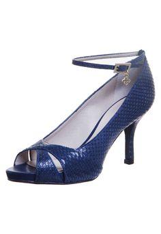 Peep Toe Capodarte Meia-Pata Embutida Azul - Compre Agora | Dafiti Brasil