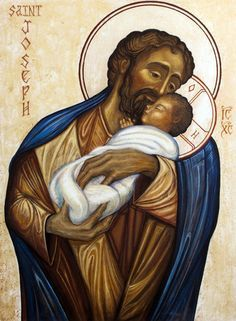 """""""Those who fear you rejoice to see me, because I hope in your word."""" Psalm // Saint Joseph and Jesus Christ, Son of God / San José y Jesucristo, Hijo de Dios // 2010 // By Fredrick del Guidice // © Oblates of St. Religious Pictures, Religious Icons, Religious Art, Catholic Art, Catholic Saints, St Joseph Catholic, Blessed Mother Mary, Holy Family, Son Of God"""