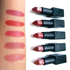 NARS Audacious lipstick swatches--Barbara!!