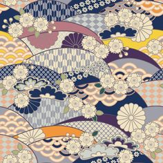 ❅️ Credits to its respective author. Japanese Textiles, Japanese Patterns, Japanese Prints, Textile Patterns, Print Patterns, Geometric Patterns, Japanese Paper, Japanese Fabric, Japanese Background